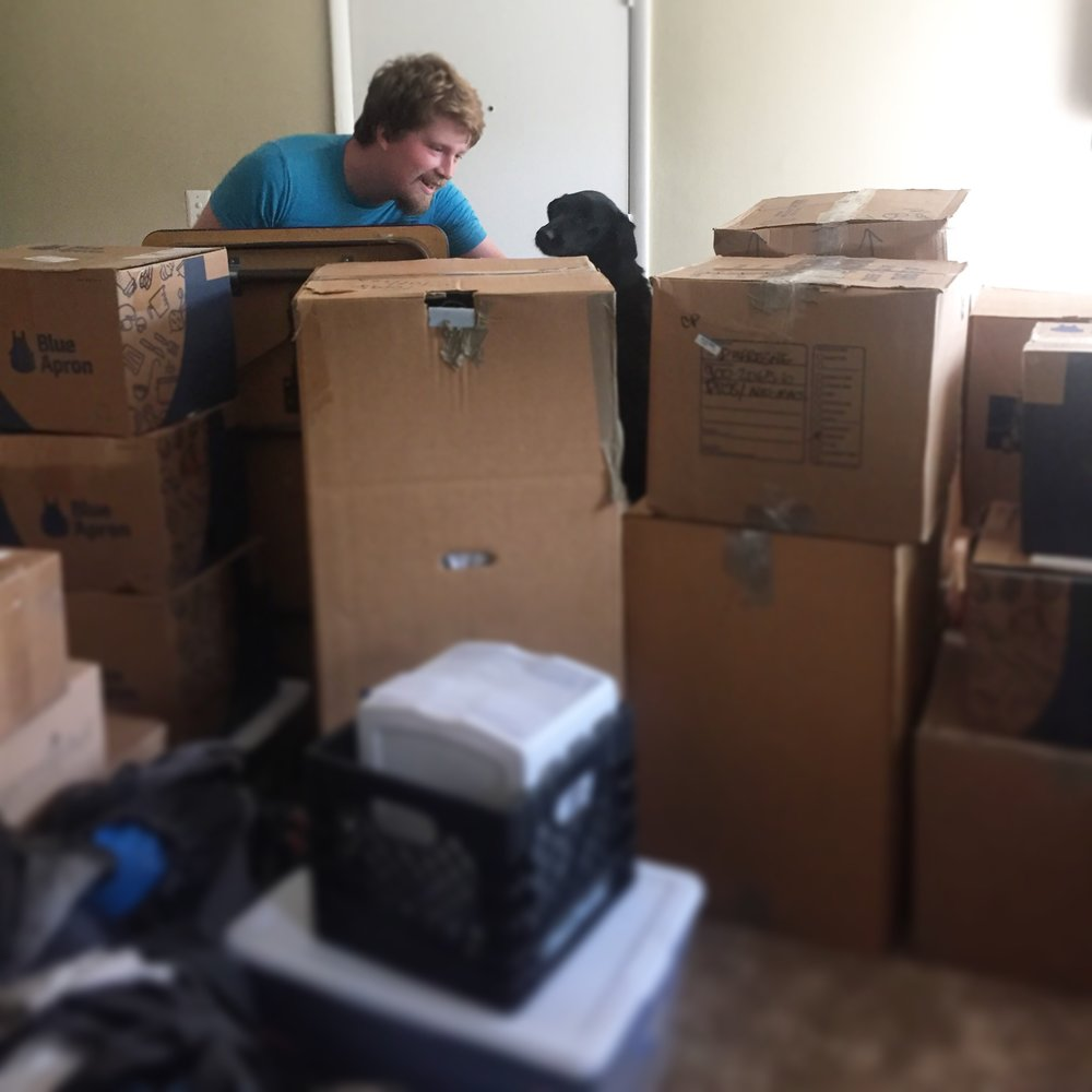 Perks of lots of moving boxes: box forts!