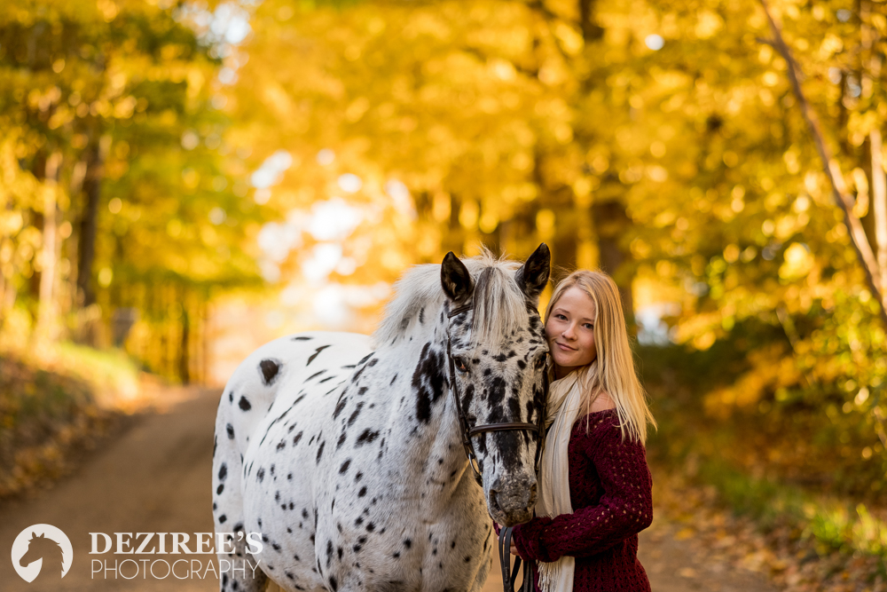 Morgan - Deziree was kind enough to work around my crazy schedule and we got lucky with the last beautiful fall day! Her talent with the camera is phenomenal - my photos were spectacular! She managed to catch the best parts of Juniper and I, regardless of the
