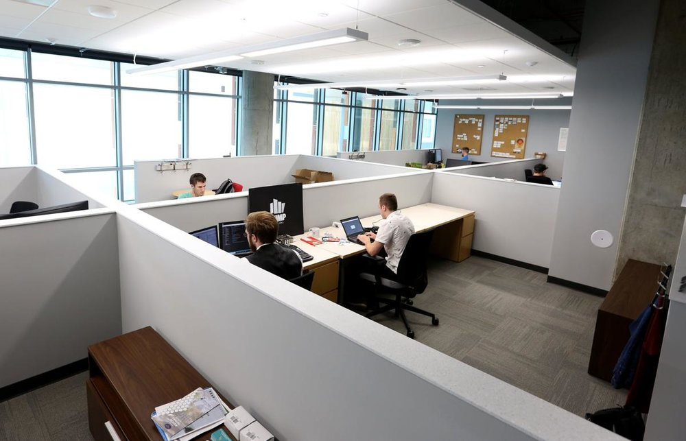 An open work space at StartingBlock in Madison.   PHOTO BY MICHELLE STOCKER