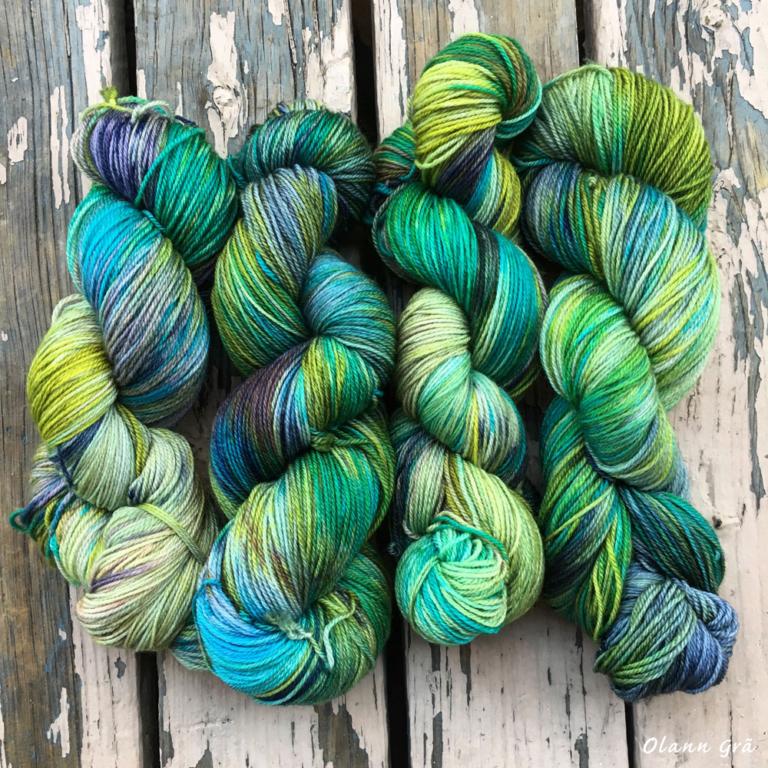 Hand dyed yarn, Show special, NE Fiber Festival 2016