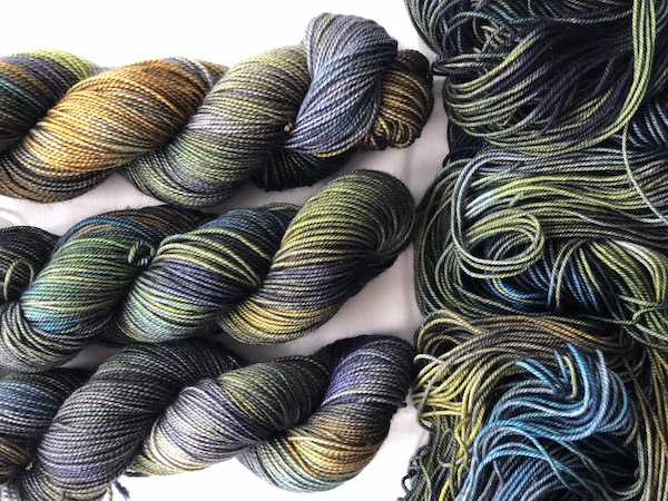""""""" Oh Wow! Yes """" by Olann Gra Hand Dyed Yarns. Available in many different weights. Visit the shop at olanngra.com to learn more."""