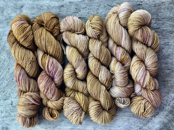 """"""" Gingerberry """" by Olann Gra Hand Dyed Yarns. Available in many different weights. Visit the shop at olanngra.com to learn more."""