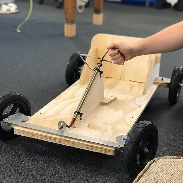 Make, play and repeat. The kart is getting closer and closer to becoming a reality for hundreds of kids around NZ. Still a bunch of development still to come.