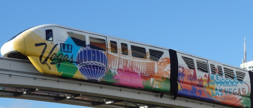 LAS VEGAS MONORAIL  Elevated