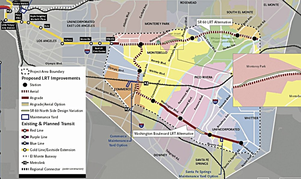 "The off shoot  ""C"" shaped Gold Line  extension to Whittier is an expensive compromise and delivers a slow commute to Downtown LA and the West Side."
