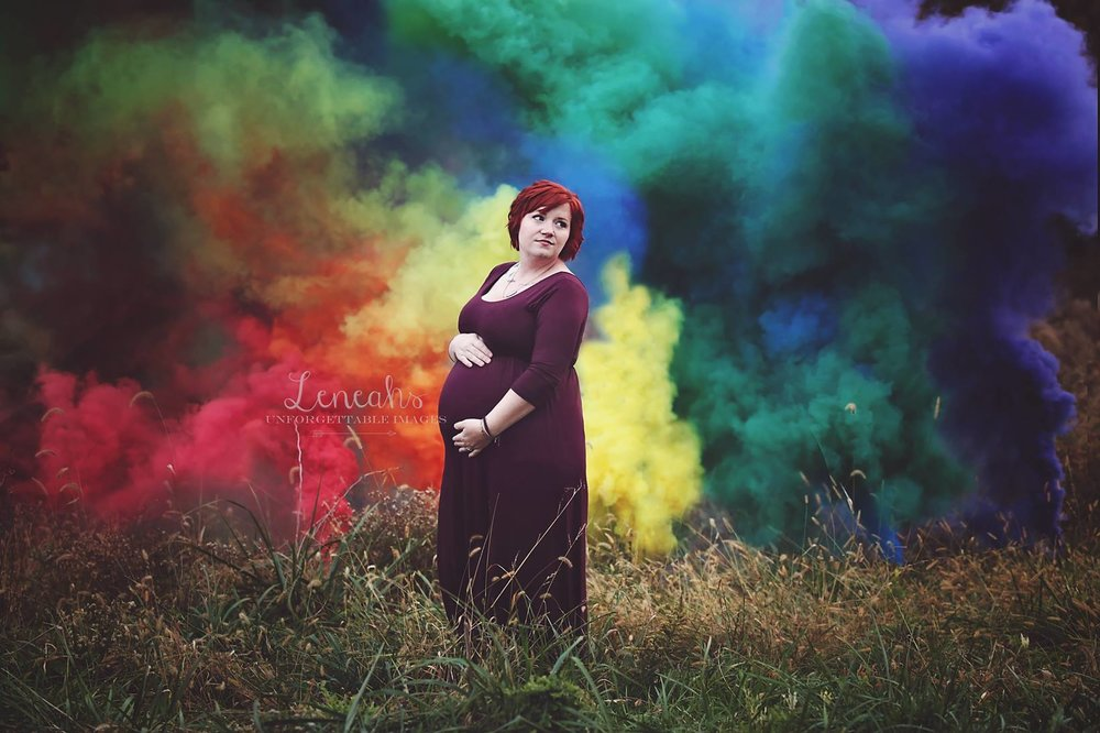 rainbow baby maternity session new albany ohio