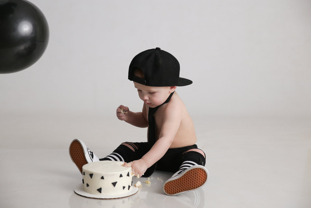 Hipster cake smash in Columbus, Ohio