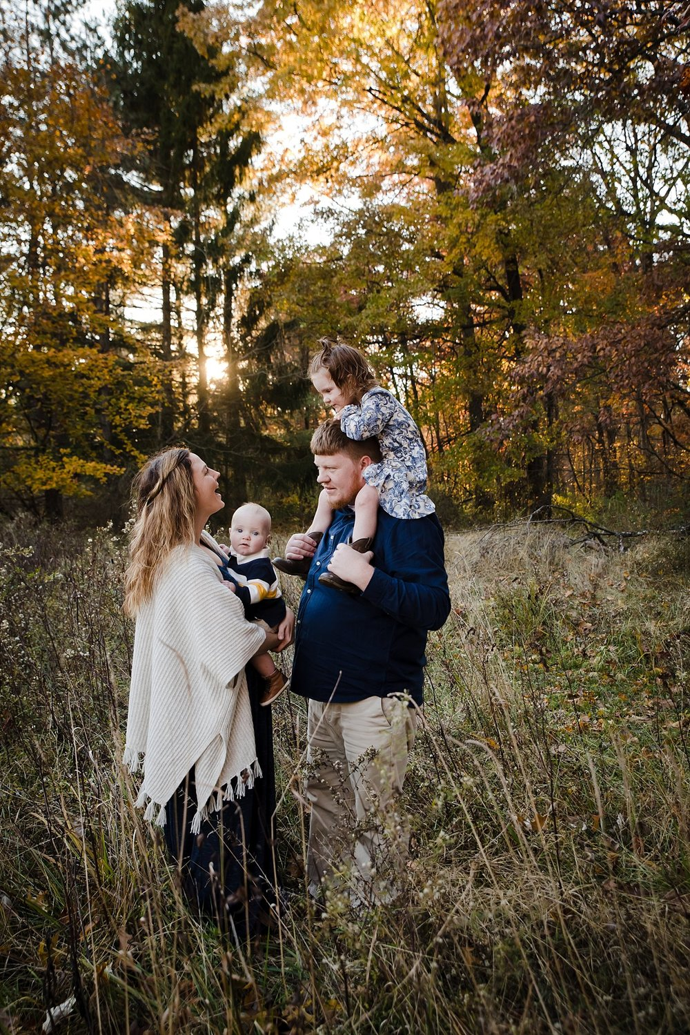 Fall family photo session columbus ohio