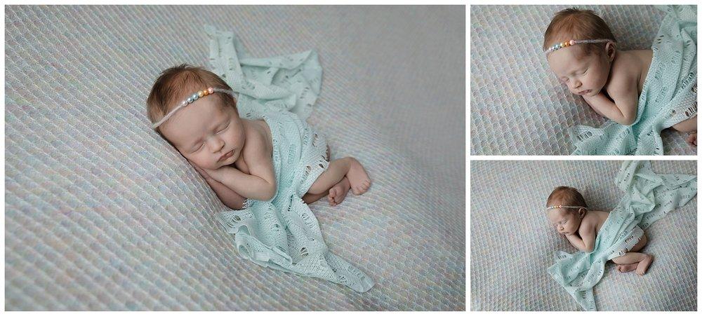 Rainbow baby newborn session columbus ohio