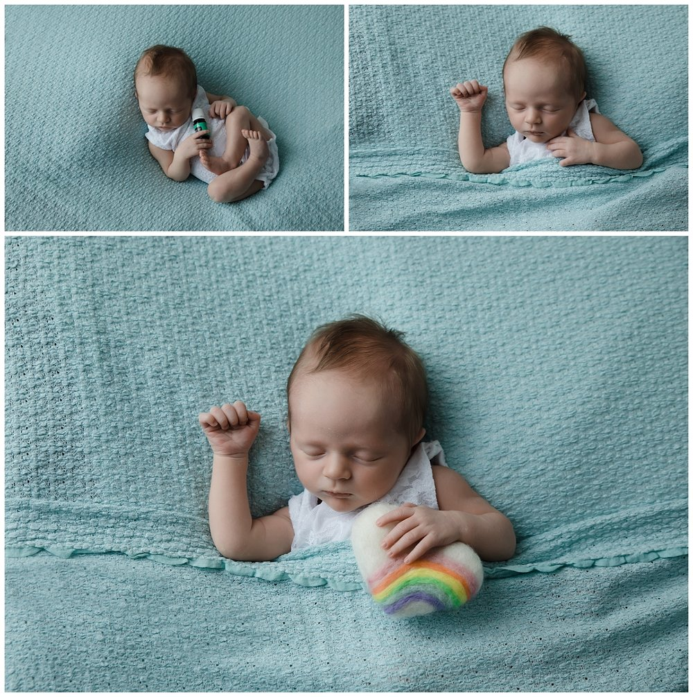 Rainbow baby newborn session columbus ohio