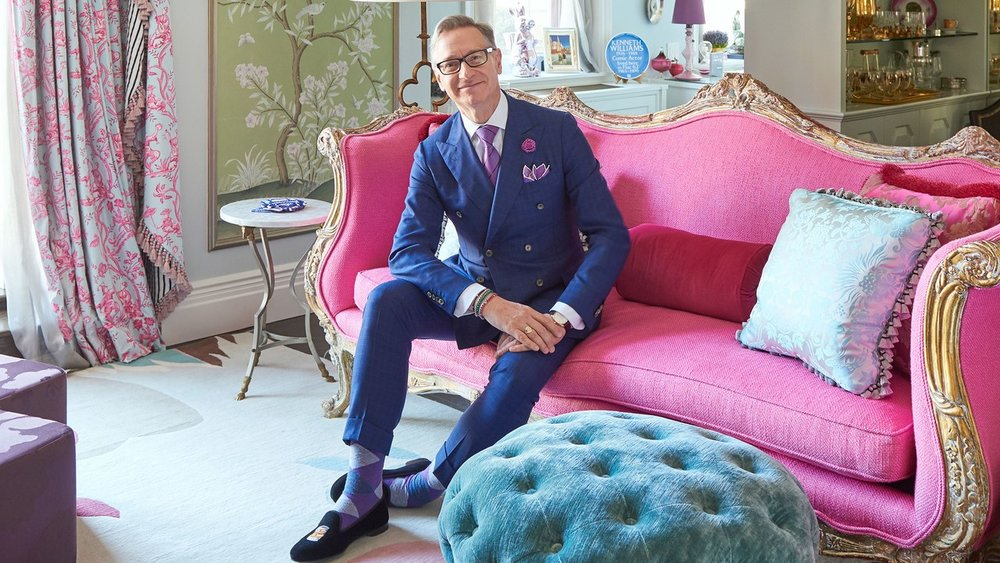 That couch! Those socks! via  Architectural Digest