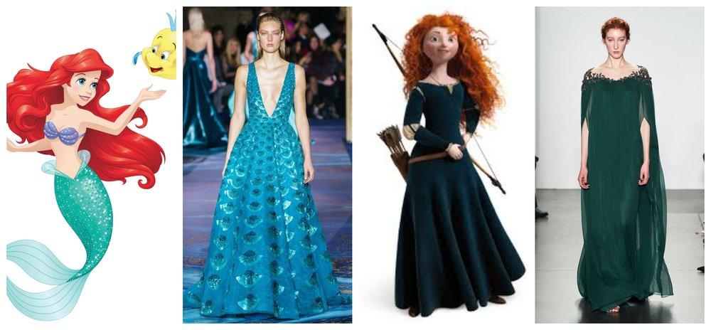 The best princess dresses: Zuhair Murad (left) and Pamella Roland.