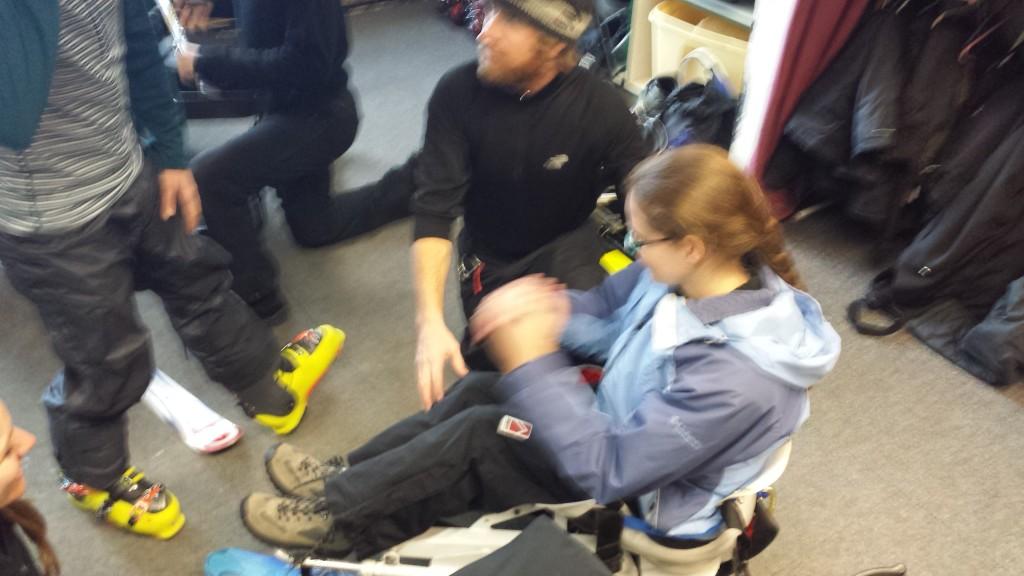 fitting a mono-ski