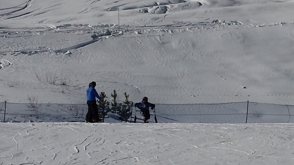 mono-ski bunny hill