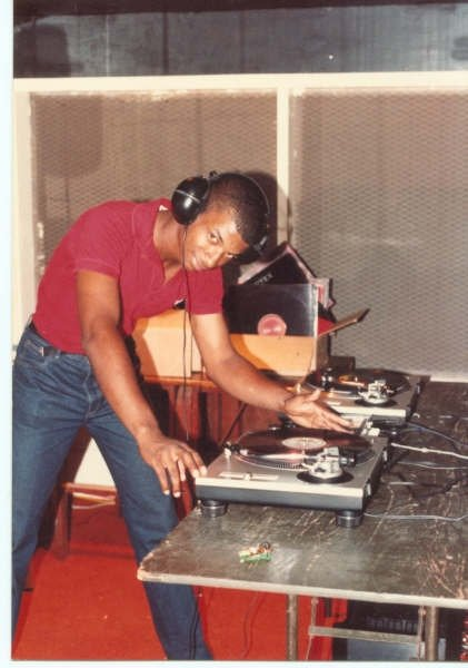 Club gig, circa 1984.