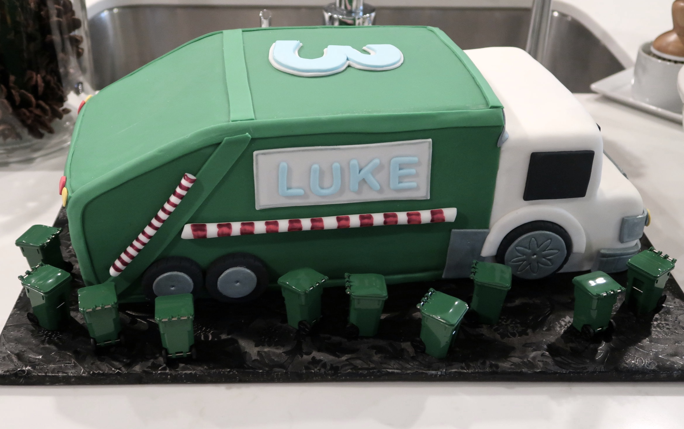 Admirable Kiddo Parties Garbage Truck Team Grayson Headquarters Personalised Birthday Cards Veneteletsinfo