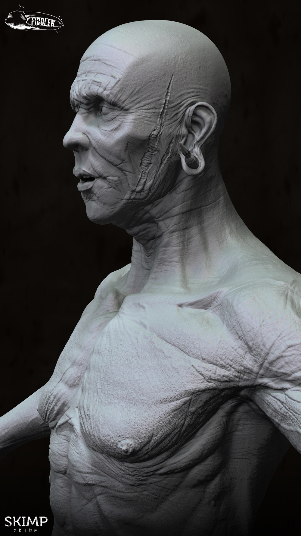 Sifter Production Sculpt WIP by Curtis Parker