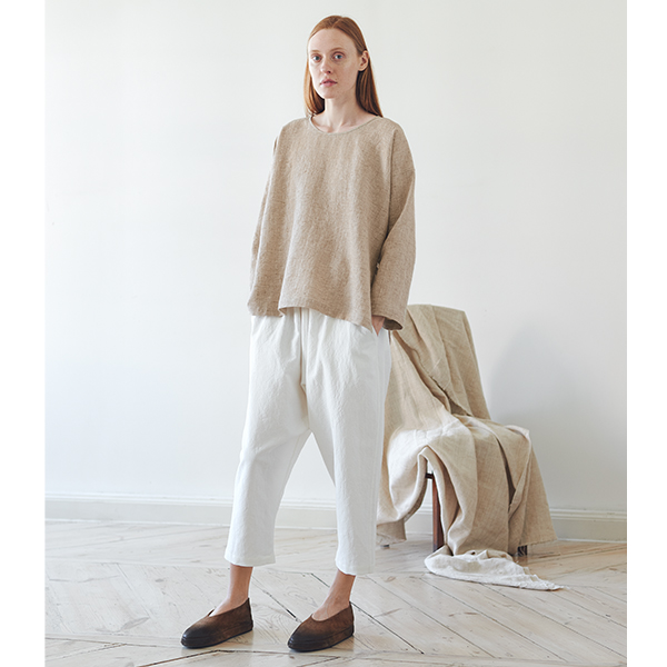 Milk White Pants with Pockets at The Back