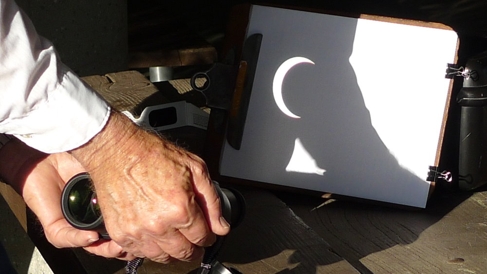 Image:  Backwards Through the Lens: May 20, 2012 Annular Eclipse, Mount Wilson Observatory . Publication essay for  KNOWLEDGES at Mount Wilson Observatory , 2012.