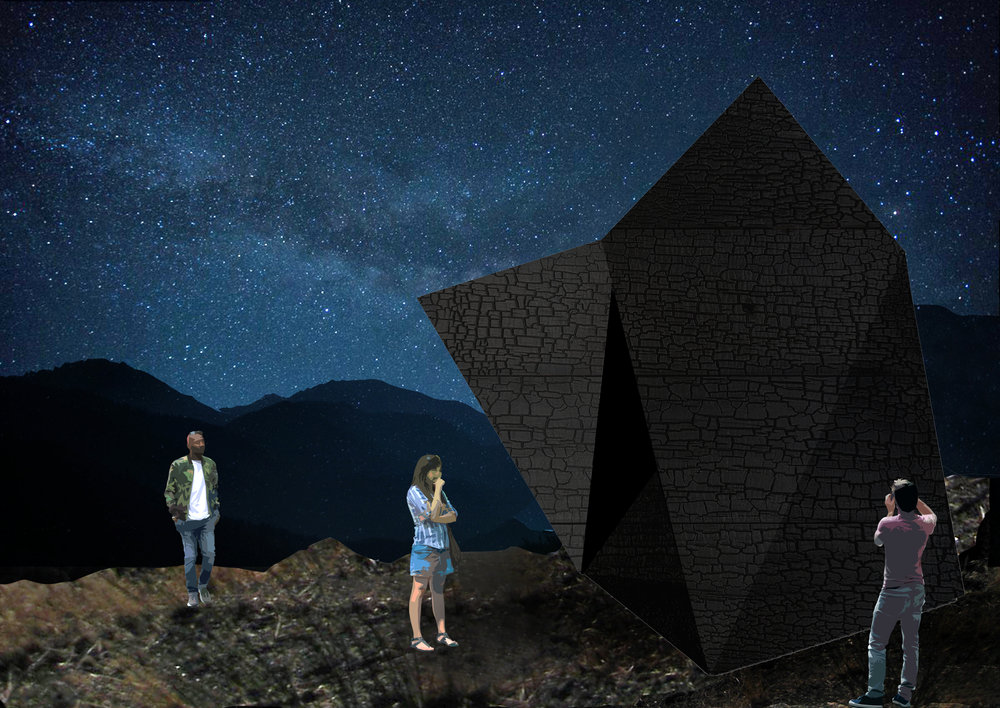 Language of the Stars , architectural rendering, 2018.