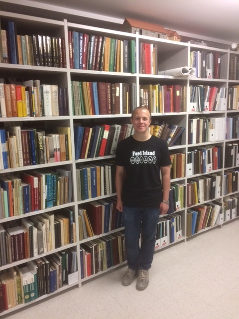 Harris Ford at the Mennonite archives, summer 2018