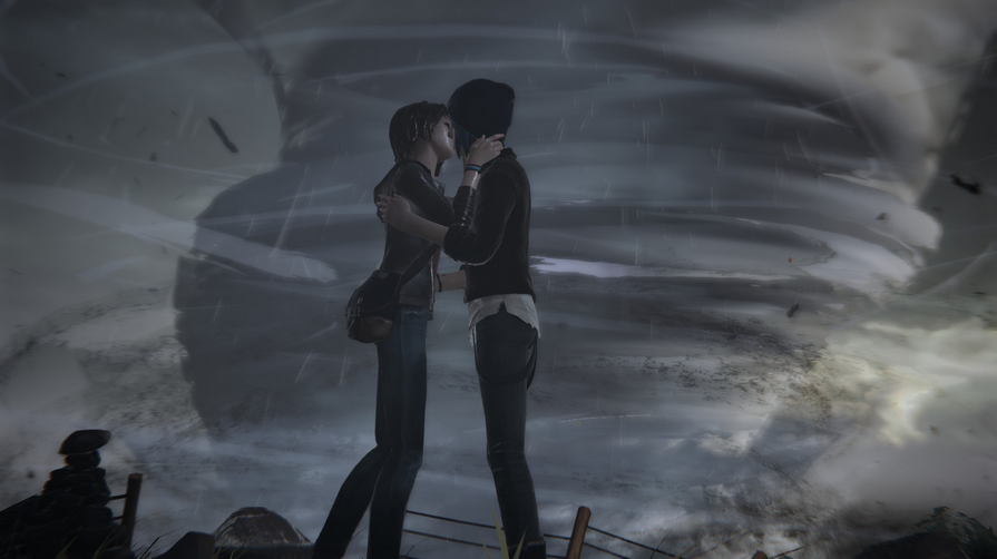 Max and Chloe only kiss when Chloe is about to die.