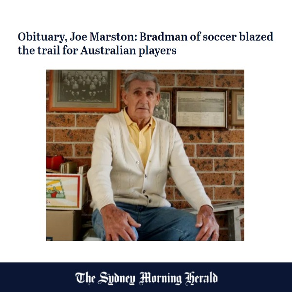 Joe Marston article by Peter Allan