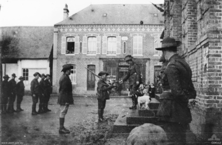 Feuquieres, France. 3 January 1919. Presentation of medals C Company
