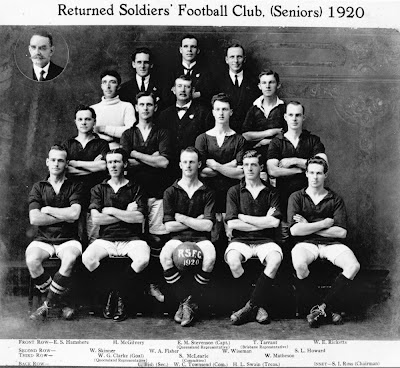 Members of the Returned Soldiers Football Club, Brisbane, 1920 Picture Queensland, State Library of Queensland. -