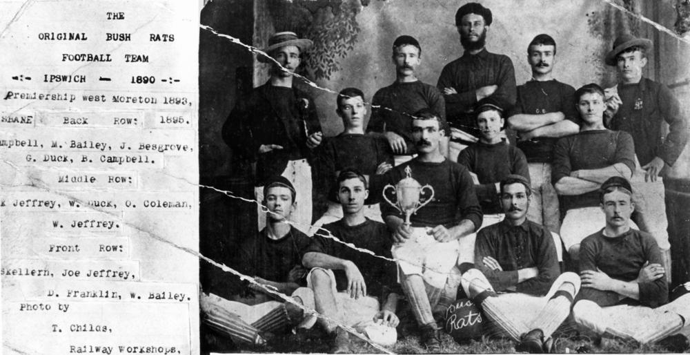 The original bush rats football team - Ipswich-1890(TROVE)