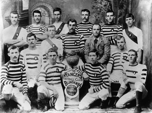 Bundamba Rangers F.C. posing in 1895 - (WIKI)