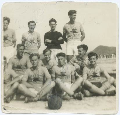 Kangaroo soccer team RAAF -1945- japan - State Library of South Australia