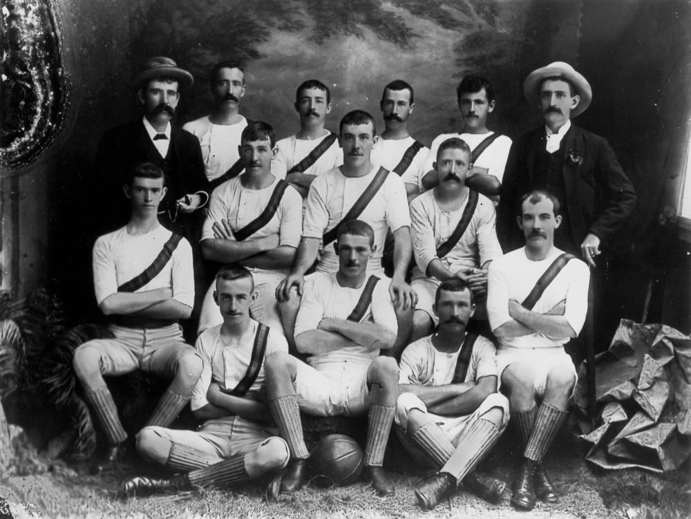 Soccer team from Cairns, ca. 1893 - Brisbane John Oxley Library, State Library of Queensland
