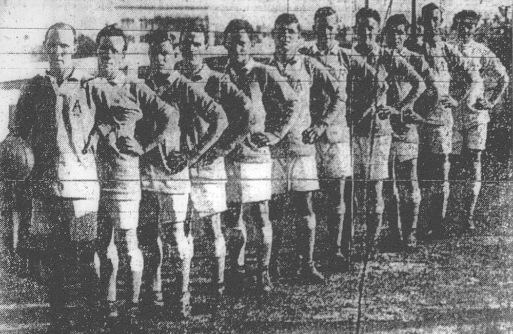 Australian team for visiting New zealand side-1923- - This was the first tour by an international side and the first full A international match played in Australia. The New Zealand national team toured Australia playing three matches against the Australian national side plus a number of other games against local representative teams.