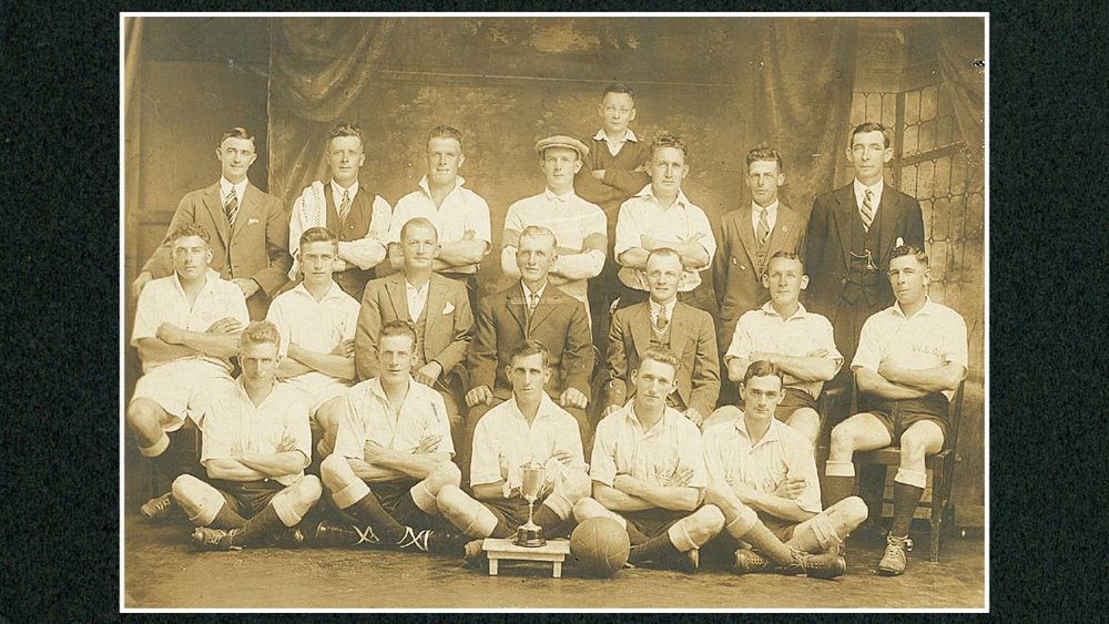 Wollongong Soccer Club: Winners Langridge Physical Culture Cup, Season 1932. - (Wollongong City Library)