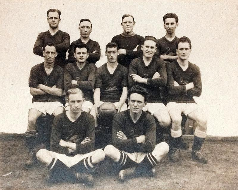 GROUP PORTRAIT, W.A. STATE SOCCER TEAM V CHINA., COTTESLOE OVAL, 11 JUNE 1927 - (WA Museum Collections)