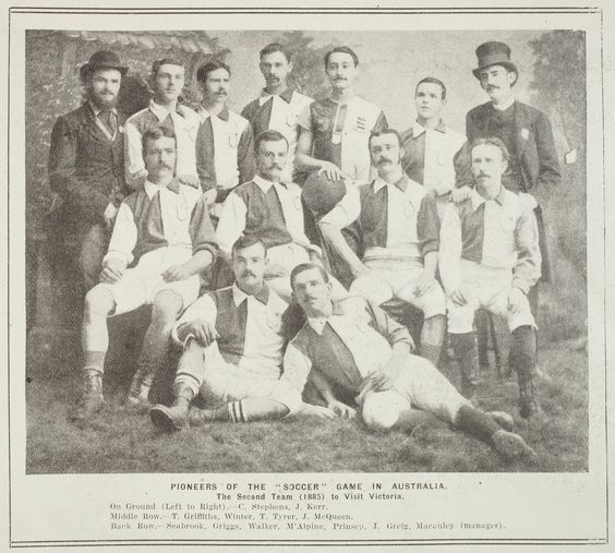 PIONEERS OF THE SOCCER GAME IN AUSTRALIA. THE SECOND TEAM (1885) TO VISIT VICTORIA. - (Australian Online Football Museum )