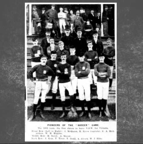 PIONEERS OF THE SOCCER GAME - The 1883 team,the first eleven to leave N.S.W. for Victoria