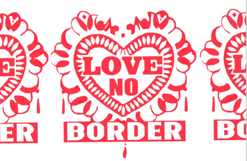 Image:  Love No Border  song sheet 2018