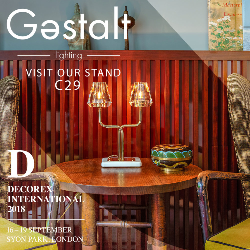 Gestalt Lighting will launch with the Aquiline collection at Decorex International, 16-19 September 2018. Find us at stand C29