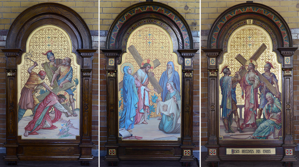 Stations of the Cross Painting Replication<strong>Roman Catholic Diocese Of Raleigh, Raleigh, NC<br/><br/>Read More →</strong>