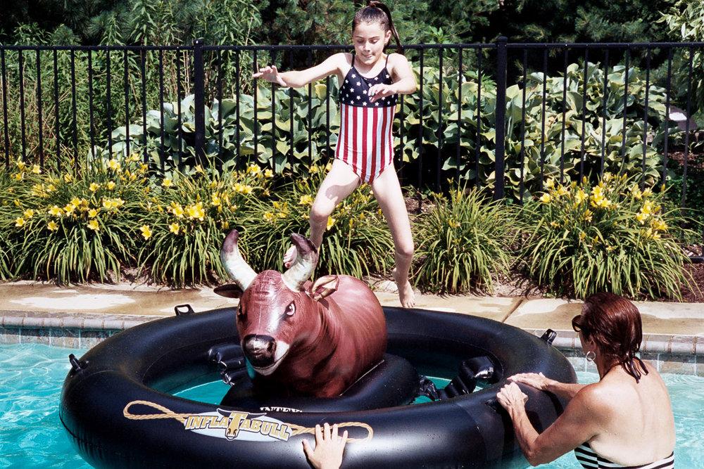 Natalie on water bull