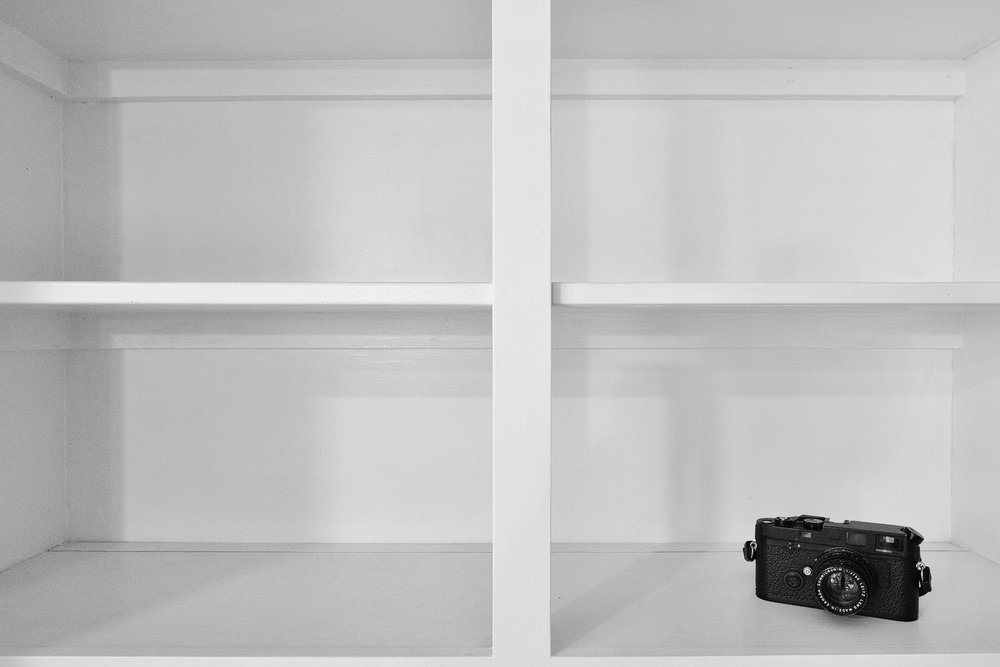 Leica M6 on shelf