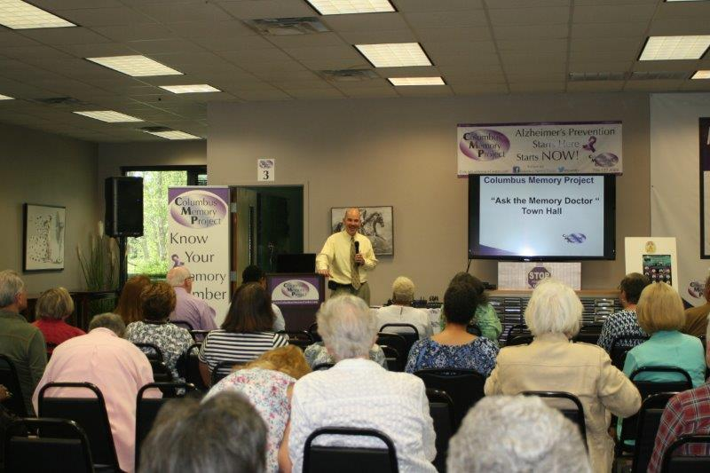 Picture is from a recent Memory Town Hall Meeting hosted at the office of the Columbus Memory Center.