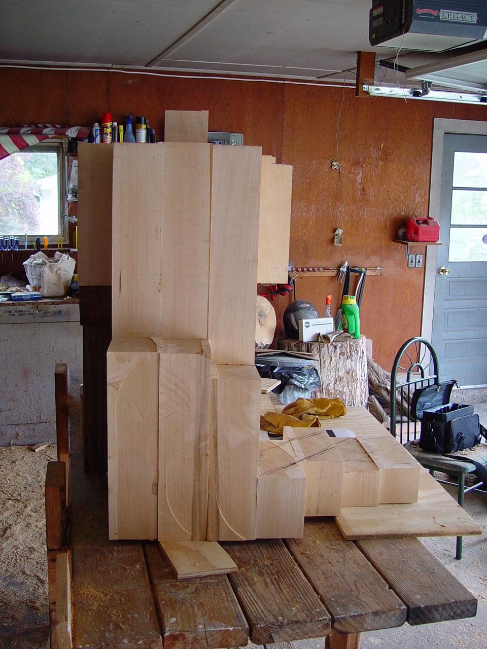 queen sculpture in progress one