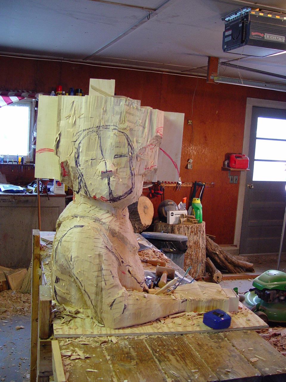queen sculpture in progress two
