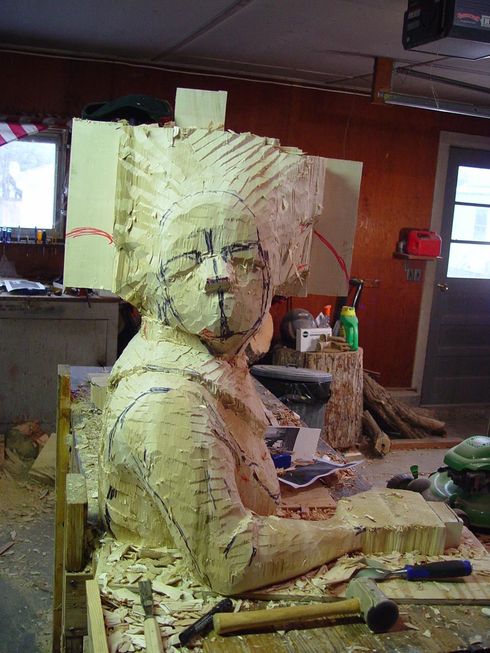 queen sculpture in progress three