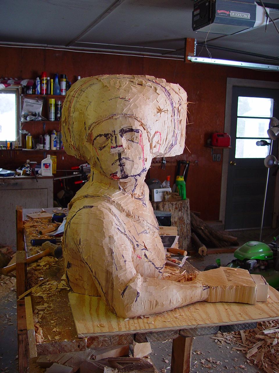 queen sculpture in progress four