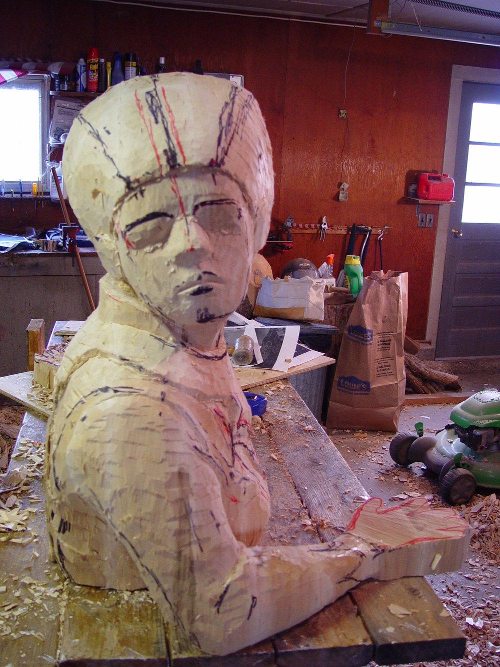queen sculpture in progress five