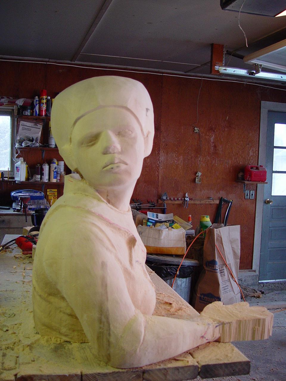 queen sculpture in progress six
